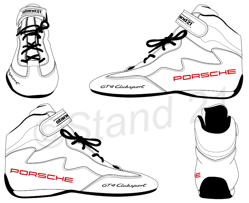 Bottines Daytona II Porsche GT4 Clubsport blanches